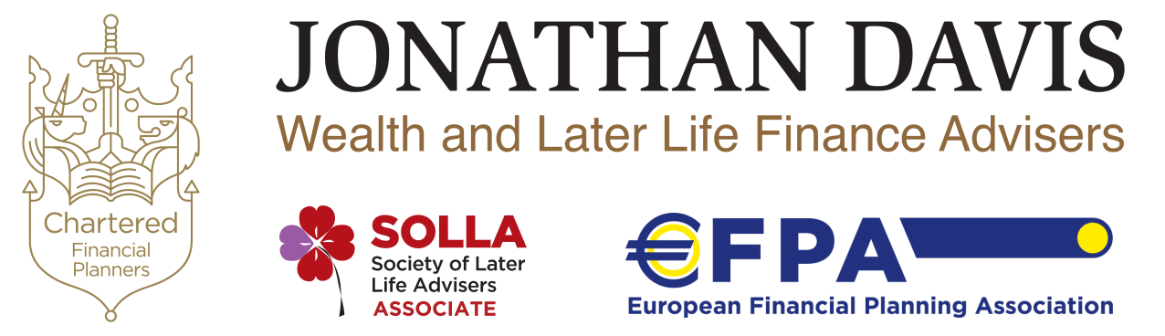 Accreditations: Chartered Financial Planners - Society of Later Life Advisers (Associate) - European Financial Planning Association
